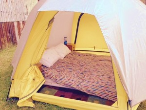 Big Yellow Luxury Dome Tent