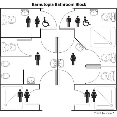 Bathroom block at barnutopia