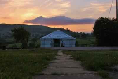 Path to yurt Bronwyn