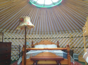 Fully furnished luxury yurts in the Welsh Borderlands