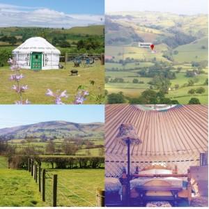 Luxury yurt glamping Shropshire