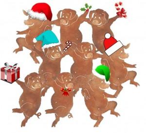 Christmas yurt special ... 9 piglets dancing