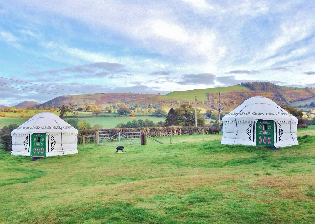 Shropshire glamping in yurts, stables and shepherd's hut