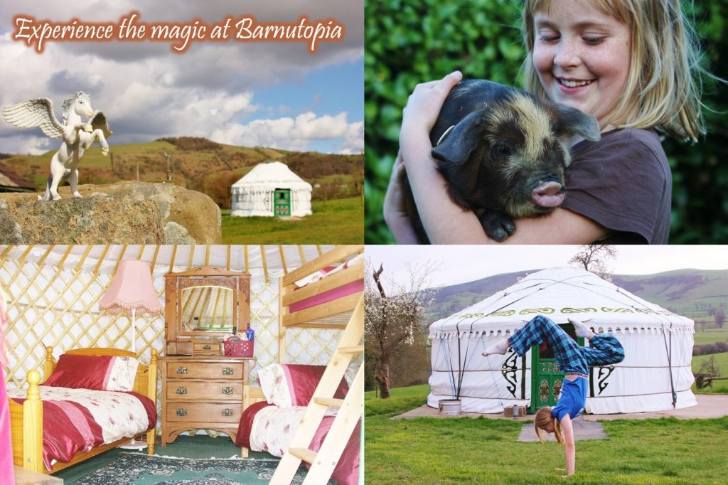 Family glamping camp for parents and children