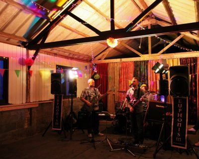Live band in the party barn