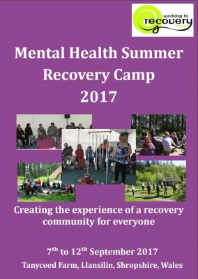 Mental health recovery camp brochure cover