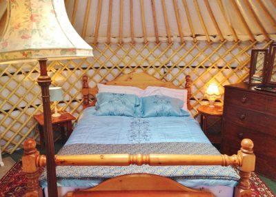 Hen weekend glamping in yurt Bronwyn