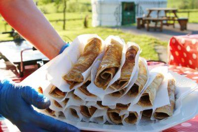 outdoor pancake bar