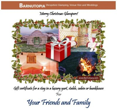 Buy a gift glamping gift certificate