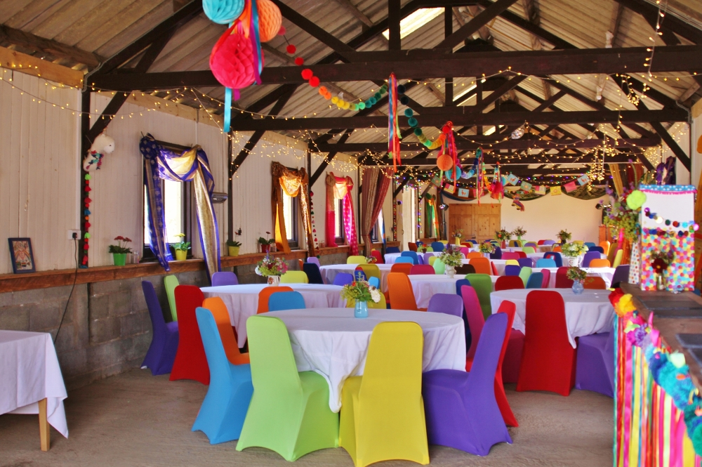 Rainbow wedding colours