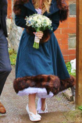 Winter wedding dresses and coats