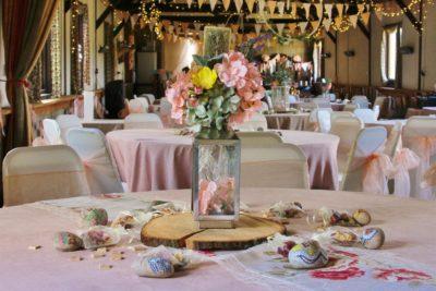 DIY wedding centrepieces