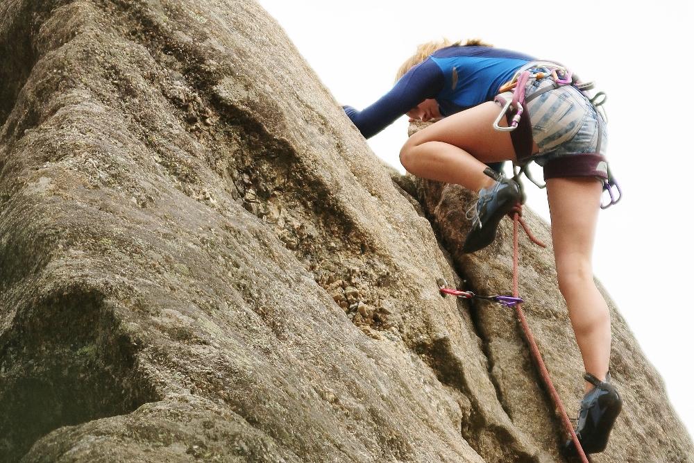 Rock climbing near Hill City, South Dakota.