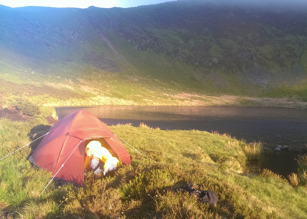 Wild camping in the Berwyn mountain range