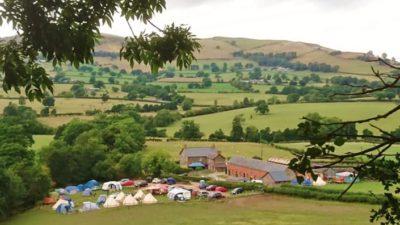 Camping field at Barnutopia