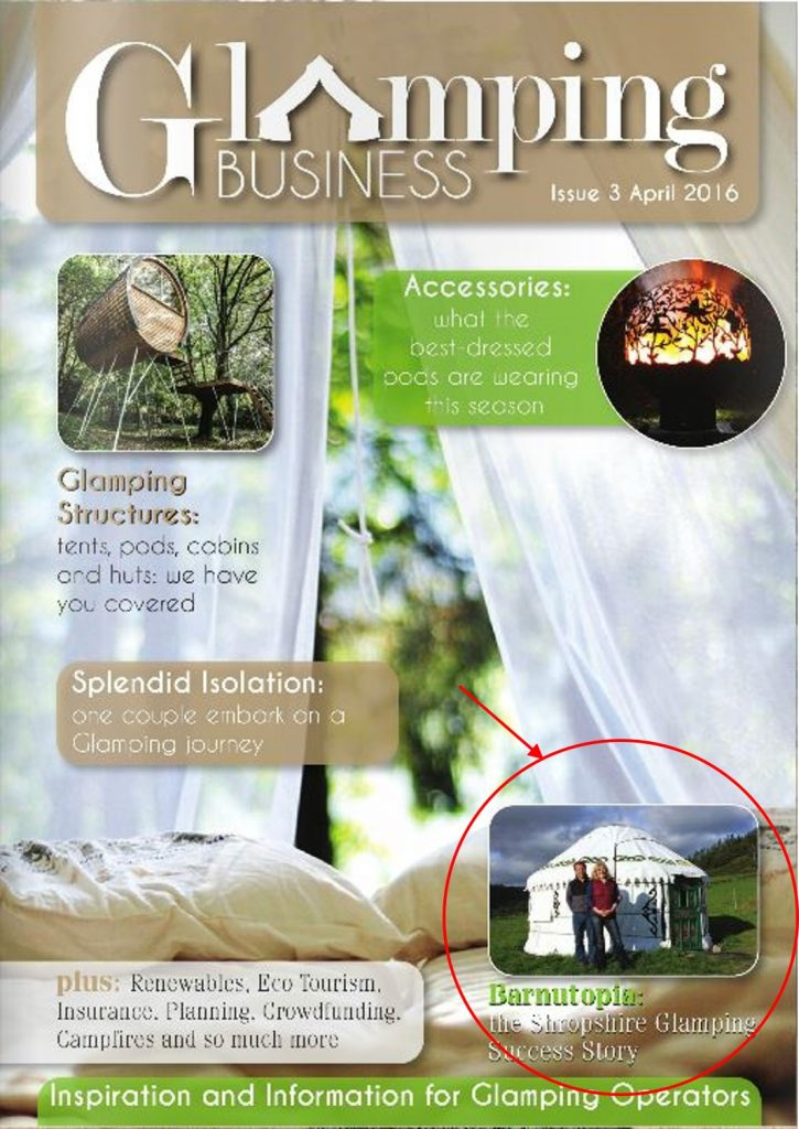 Successful Glamorous Camping Site article in Glamping Business Magazine