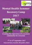 Mental Health Recovery Camp September 2017