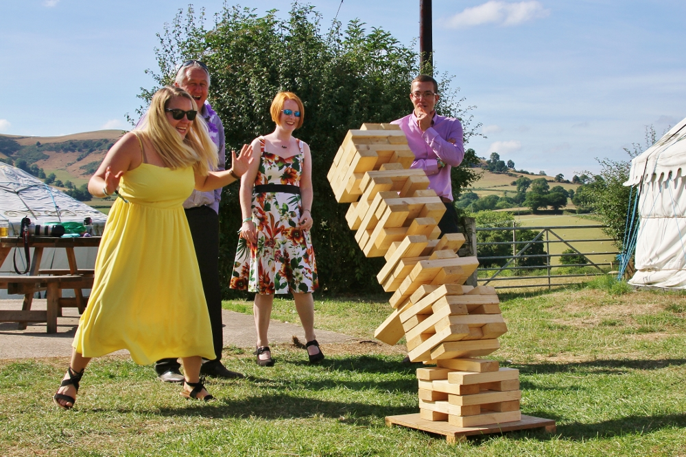 Giant Jenga at Barnutopi