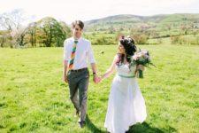 Spring wedding at Barnutopia