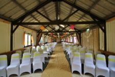 Wedding barn ready for autumn wedding at Barnutopia