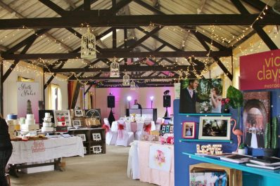 Set-up for 2019 Spring Wedding Fayre