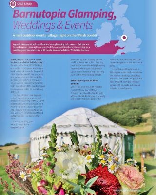 Barnutopia Glamping, Weddings & Events, Case Study, Open Air Business Magazine