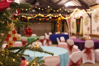 New Year Glamping party in the long barn