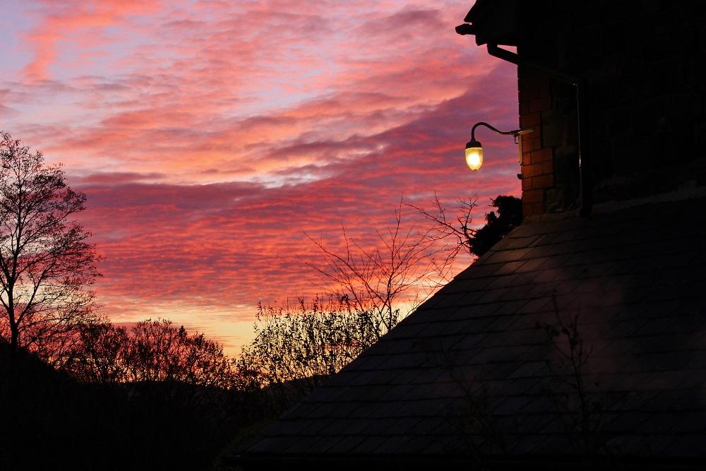39 reasons: Sunset at Tanycoed Farm