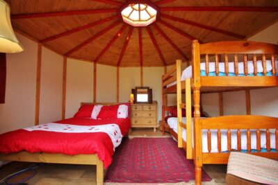 Inside Yurt Carianne