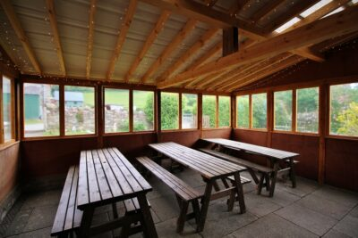 Inside the garden room at Barnutopia