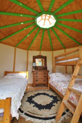 Inside Yurt Nanny Iris