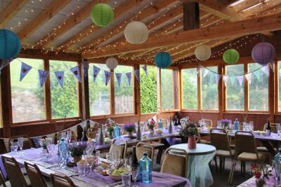 Micro wedding for up to 20 guests in garden room