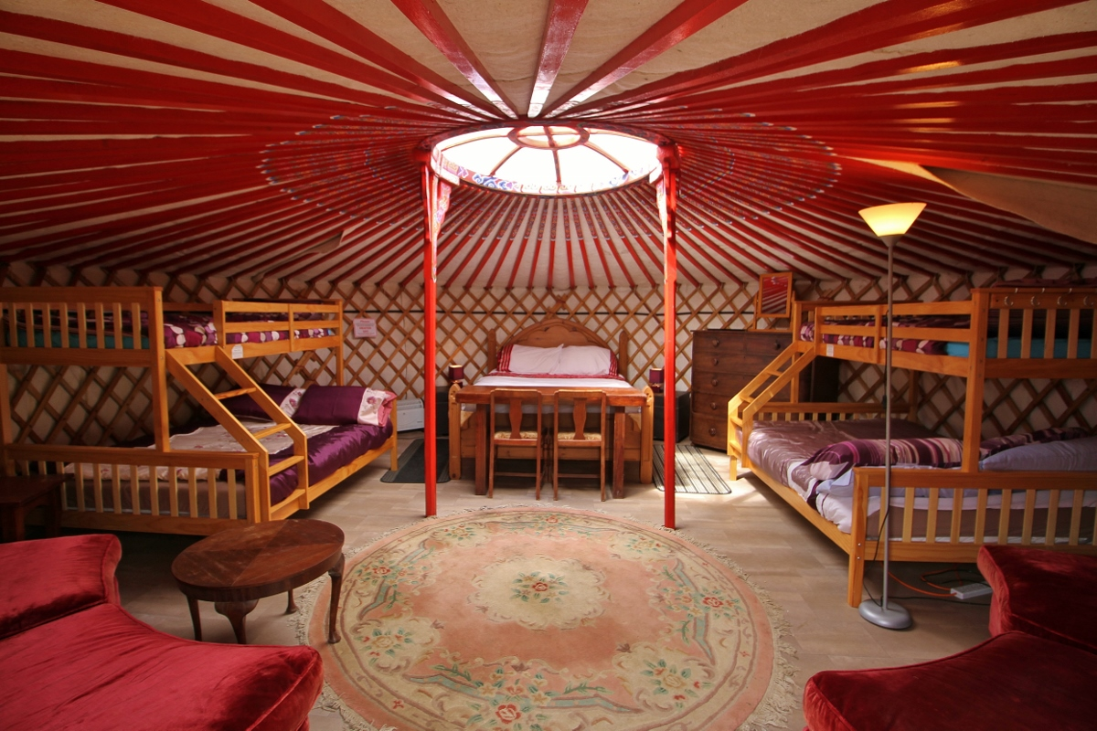 Go glamping in Mongolian Yurt,Axana at Barnutopia