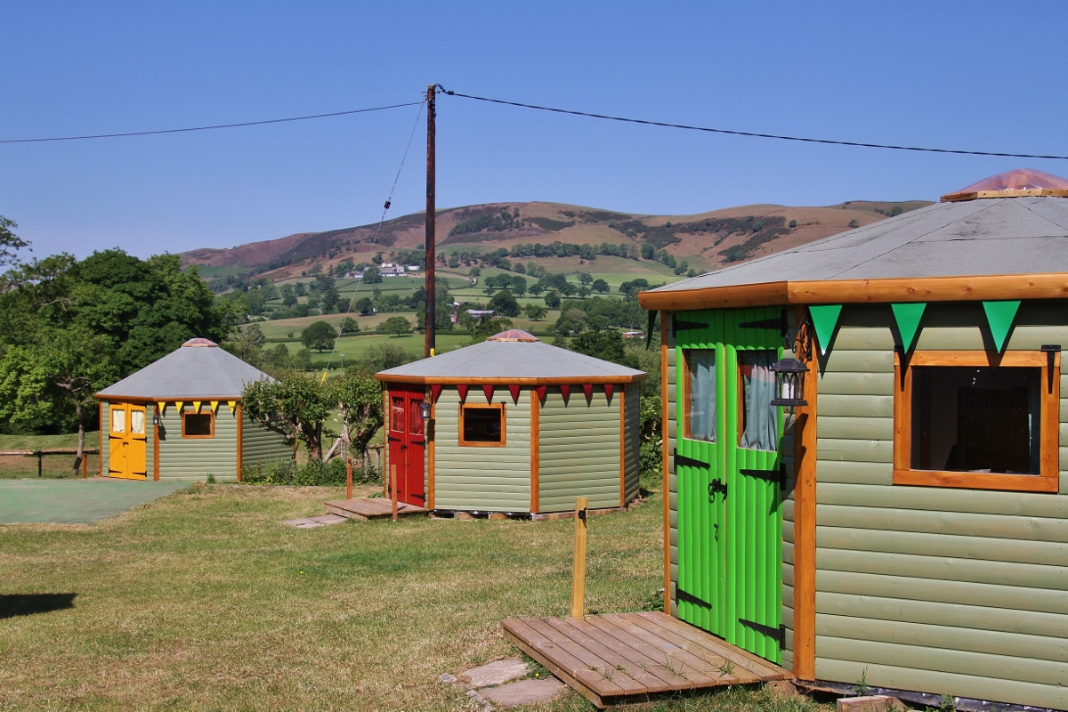 Go glamping in a wooden octayurts at Barnutopia