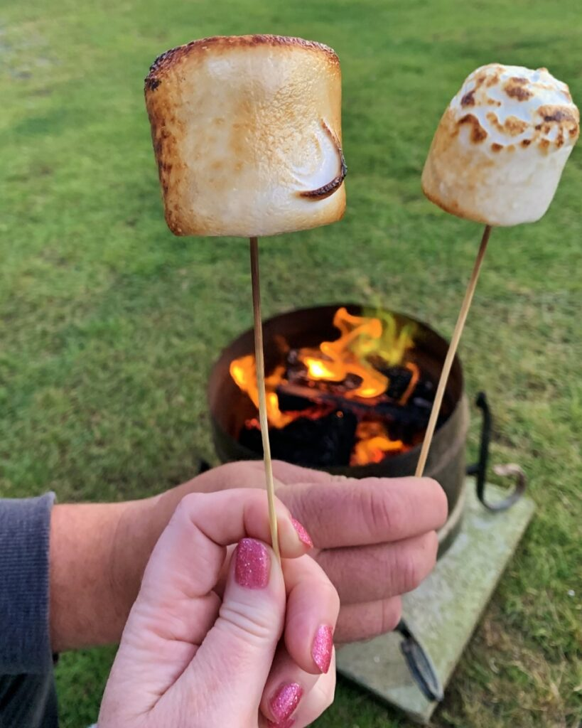Campfire and toasted marshmallows